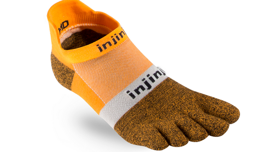 057c4e5839 Injinji® Run Lightweight no-show Orange | Sport | Socken | Online ...