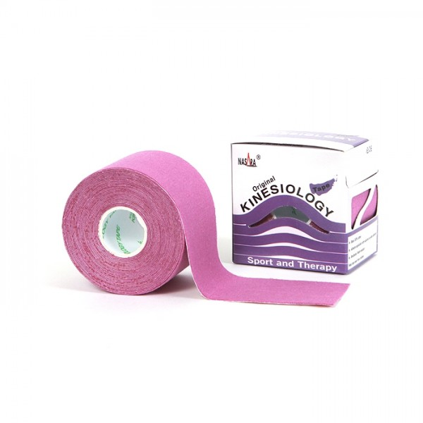 Nasara® Tape classic 5 cm x 5 m Rolle pink/rot