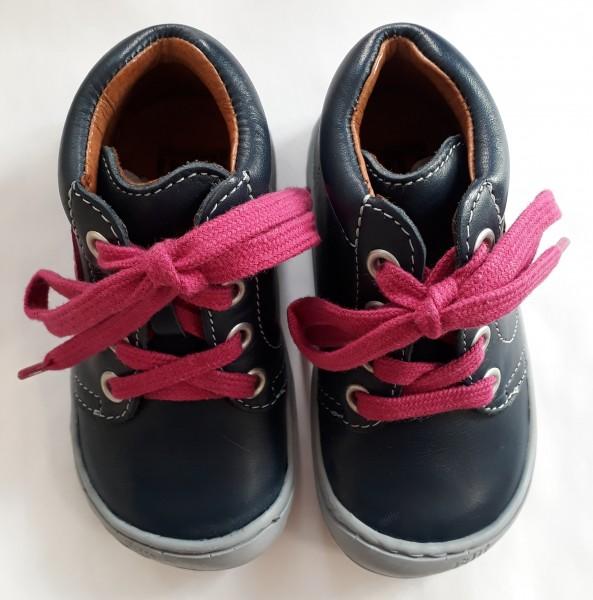 Filii Kinder Barfußschuhe Schnürer ocean/pink/ Nappa