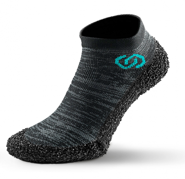 Skinners Barfuß Socken Schuhe athleisure model line metal grey