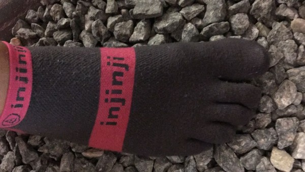 Injinji® Run No-Show Lightweight Pink/Grey
