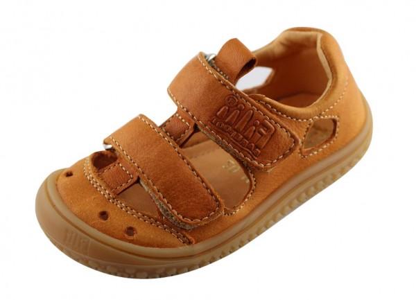Filii Kinder Barfußschuhe Sandale Glattleder Klett