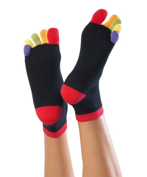 Knitido Rainbow Socken mit bunten Zehen