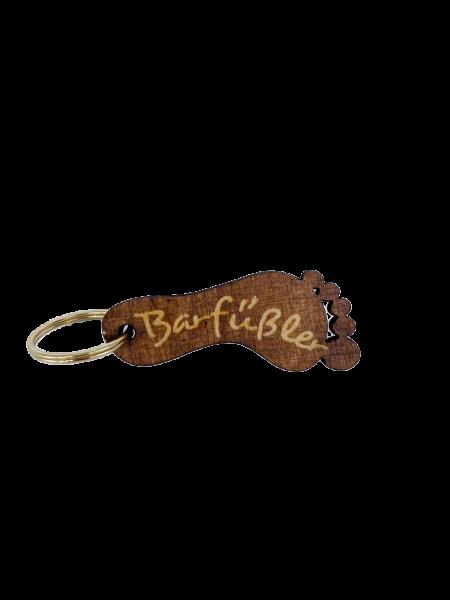 Barfüßler Schlüsselanhänger Holz